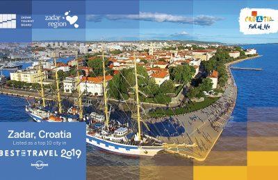 Lonely Planet uvrstio Zadar na popis top 10 gradskih destinacija u 2019. godini