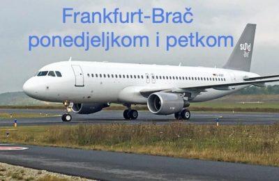Njemački SundAir uspostavlja charter liniju Frankfurt – Brač