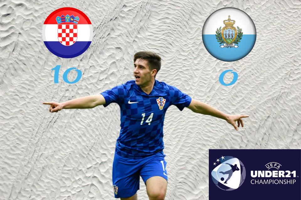 Izvedba za desetku! Hrvatska U21 – San Marino U21 10:0 (5:0)